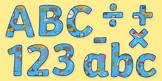 themed letters science themed display letters and numbers pack science