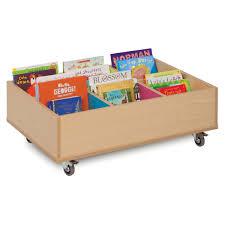 bubblegum 6 kinderbox book storage unit with wheels meq9013