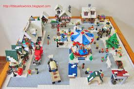 Christmas Village Sets Little Yellow Brick A Lego Blog Our Lego Winter Village Town