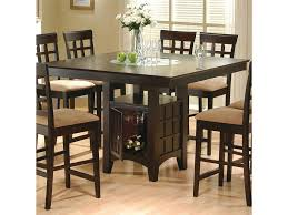 high top kitchen table set triangle dining room set provisionsdining com