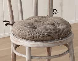 coussin de chaise rond galette de chaise ronde matelassée décoration maison