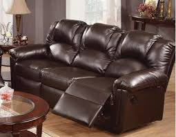 Leather Sofa With Recliner Espresso Bonded Leather Reclining Motion Sofa By
