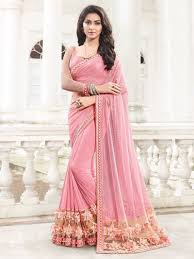 engagement sarees for pink color ethnic designer heavy fancy sarees for engagement