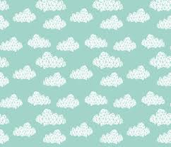 geo clouds mint pastel gender neutral trendy mint clouds for