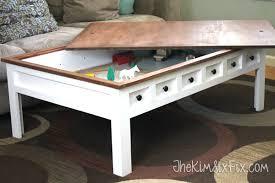 diy folding train table 35 diy table storage ideas you simply can t resist