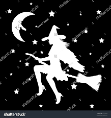 vector silhouette graphic depicting witch on stock vector 1771329