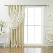 Single Blackout Curtain Best Home Fashion Inc Lace Tulle Overlay Solid Blackout Thermal