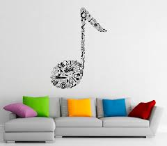 music wall decal vinyl stickers music notes home interior art details music wall decal vinyl stickers music notes
