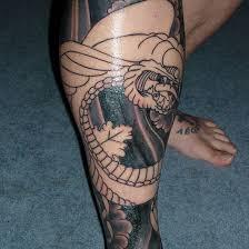 meaningfull leg designs for leg tattoos