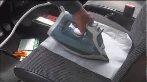 refaire un siege de voiture réparation siège tissu déchirure auto tissu thermocollant