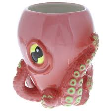 octopus with tentacles ceramic mug quirky novelty coffee mugs