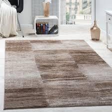 teppiche wohnzimmer wohnzimmer teppich karo meliert braun beige design teppiche