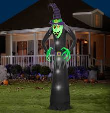 halloween outdoor decoration gemmy airblown inflatable 3 5 u0027 x 11 5 u0027 giant neon green spider