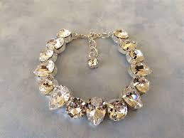 wedding jewelry bracelet crystal images Chunky swarovski bridal teardrop pendant necklace the crystal jpg
