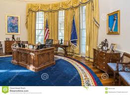 Oval Office Pics Replica Of The White House Oval Office Editorial Stock Photo