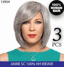 human hair in salt and pepper foxy silver human hair weave