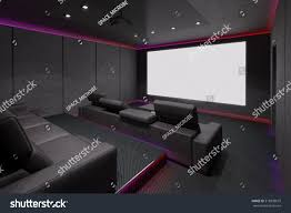 home theater interior 3d illustration stock illustration 318898679