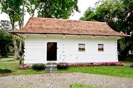 polish colonial house museum in curitiba brazil stock photo