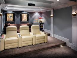 flooring home theatre with reclining chairs and wall art also