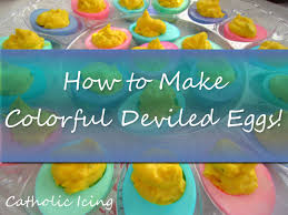 how to make colored deviled eggs for easter
