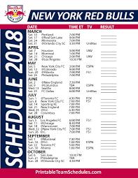 printable bulls schedule 2018 printable new york red bulls schedule