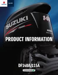 suzuki df115 140 brochure suzuki marine pdf catalogues