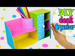 Origami Desk Organizer Diy Desk Organizer Multifunctional From Cardbox Easy Tutorial