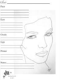 makeup artist sketchbook 50 best blank charts images on makeup charts