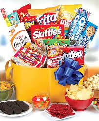 junk food gift baskets the junk food basket chocolate sweet baskets a gift for