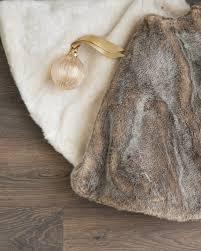 faux fur tree skirt lodge faux fur tree skirt balsam hill australia