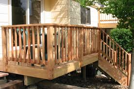 exterior cool deck railing ideas wide option of deck railing