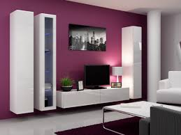 Tv Wall Decor by Living Room Brilliant Living Room Design With Purple Wall Paint