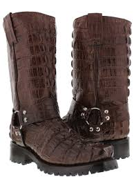 brown motorcycle boots for men mens brown biker motorcycle crocodile tail alligator western