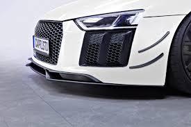 Audi R8 Front - capristo carbon front fins audi r8 v10 second generation