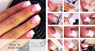 can you put nail polish on white tip acrylic nails nail art ideas