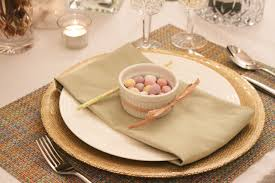 how to set a sophisticated easter dinner table