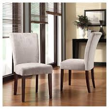 Parson Dining Chair Amity Parson Dining Chair Wood Silver Chenille Set Of 2