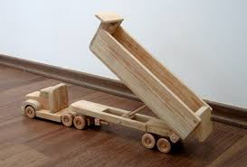 daphne the dump truck a wooden toy with movable bed