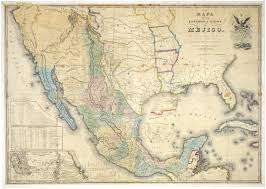 Mexico States Map by Map Of The United States Of Mexico C 1847