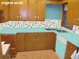 old kitchen cabinet ideas 5 ideas to repaint rebecca s faded wood kitchen cabinets retro
