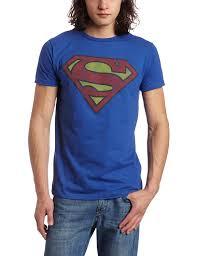 amazon bioworld men u0027s superman logo tee clothing