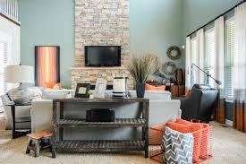 teal livingroom orange hermes throw contemporary living room summer orange gray