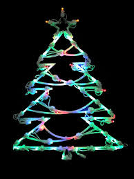 18 led lighted tree sided window silhouette