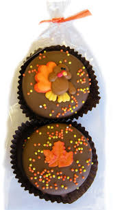 thanksgiving day chocolate covered oreo cookie gift bag 2 pieces