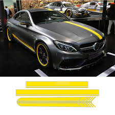 are mercedes c class reliable aliexpress com buy auto side skirt car sticker car roof