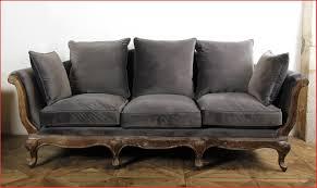 banc canap canapé banc 115306 canapé pompadour velours gris décoration