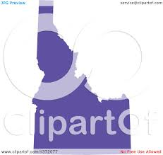 United States Map Clip Art by Clipart Of A Purple Silhouetted Map Shape Of The State Of Idaho