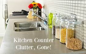 Glass Canisters For Kitchen Keeping Kitchen Counters Clear The Organized Mom