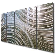 Home Decor Metal Wall Art by All Silver Wall Art Statements2000 Jon Allen Metal Art