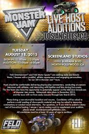 monster truck show january 2015 open auditions in l a u0026 n y for monster jam live u2013 the show is